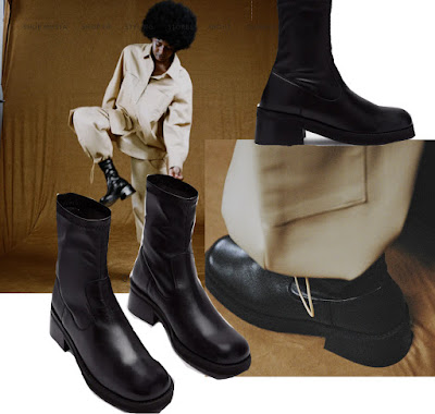 Miista Oliana black leather boots