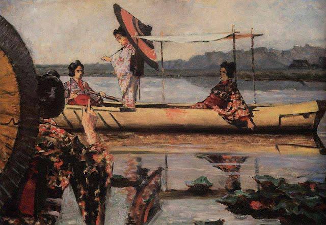 Василий Васильевич Верещагин - Прогулка в лодке. 1903-1904