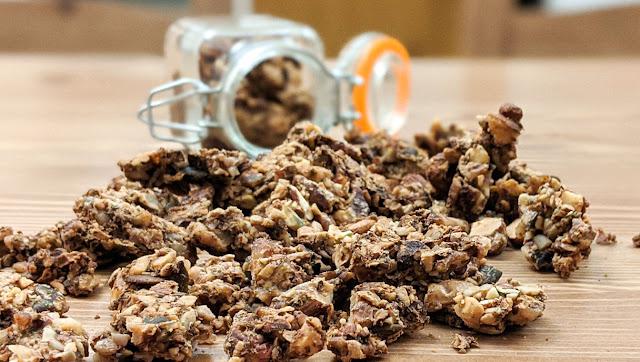 recette, fait maison, muesli, granola, santé, keto, céto, vidéo, étape par étape