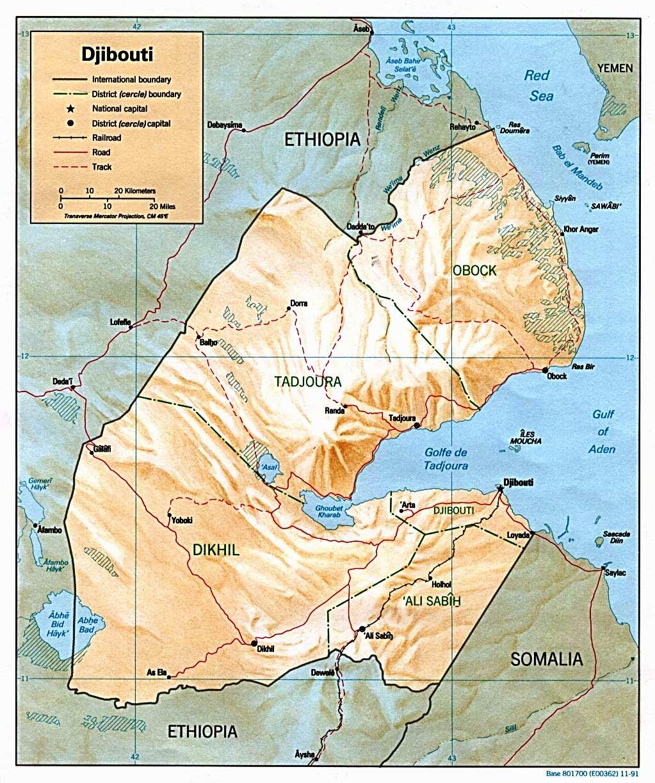 Dschibuti Weltatlas