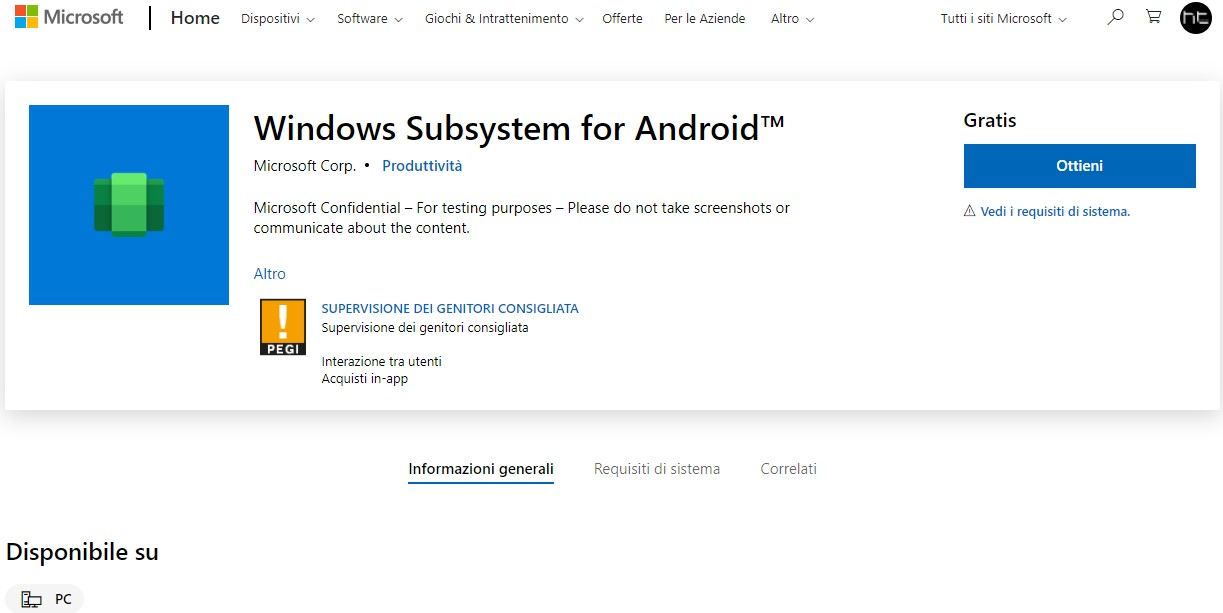 Windows 11: download Windows Subsystem for Android