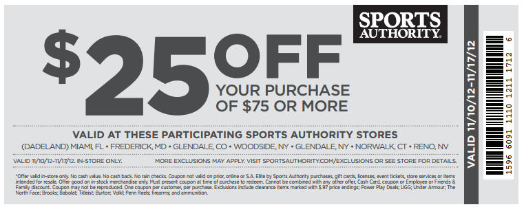 photo relating to Modells Printable Store Coupon identified as Sports activities authority printable in just retailer coupon codes 2018 / Wcco