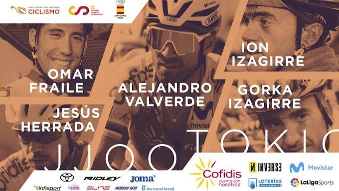 Momparler anunció los ciclistas que formaran la Selección Española de carretera masculina para los Juegos Olímpicos de Tokio
