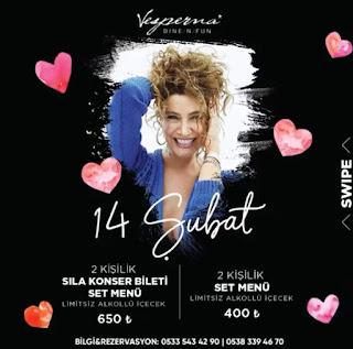 14 şubat konserleri sevgililer günü sıla ankara konseri 2020