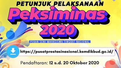 Petunjuk Pelaksanaan Pekan Seni Mahasaiswa Nasional (Peksiminas) XV Tahun 2020