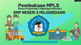 Materi Masa Pengenalan Lingkungan Sekolah (MPLS) Hari Pertama (1) SMPN 3 Mojogedang Tahun 2021 / 2022