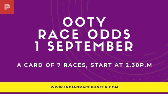 Chennai-Ooty Race Odds 2 September