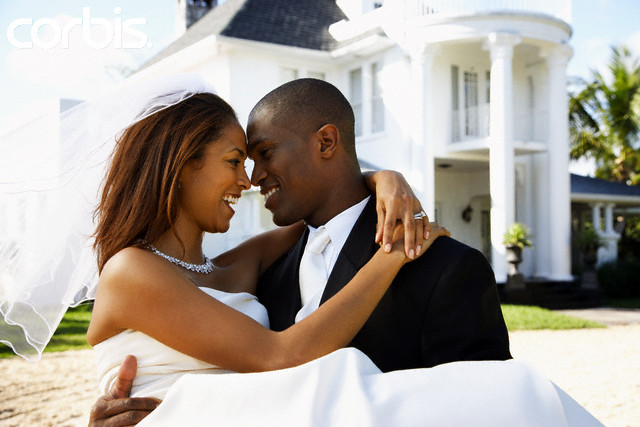 People Getting Married Black Couple