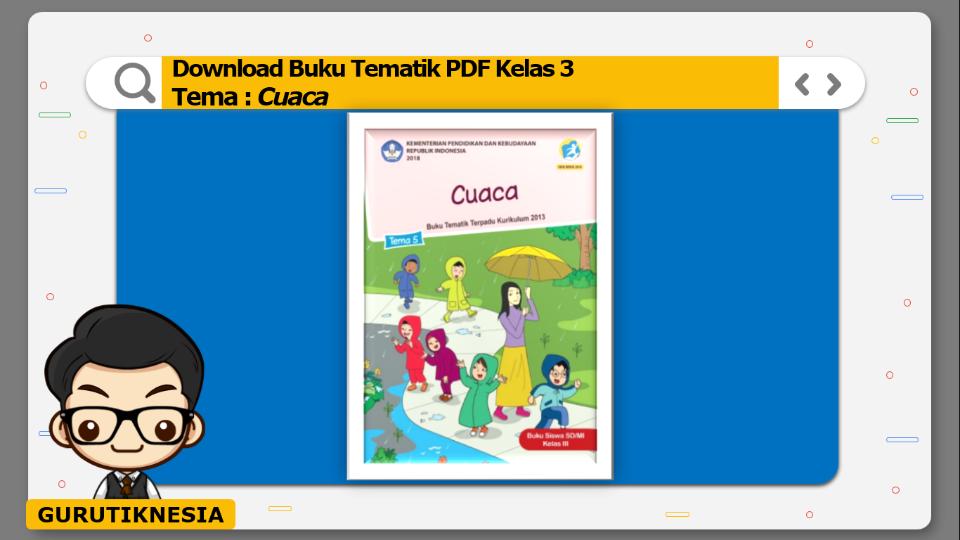 download gratis buku tematik pdf kelas 3 tema cuaca