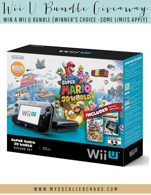 Wii U Bundle #Giveaway!