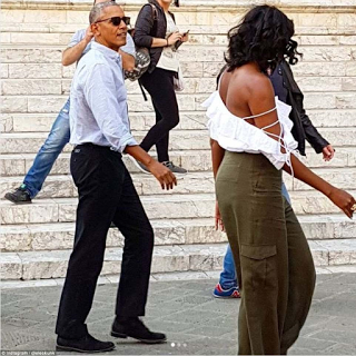 Obama and wife, michelle