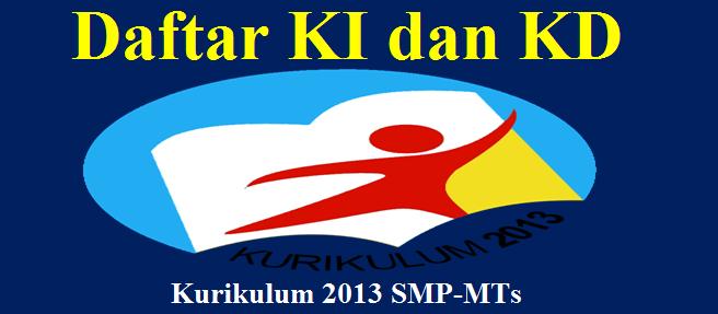 Daftar KI dan KD Kurikulum 2013 SMP-MTs