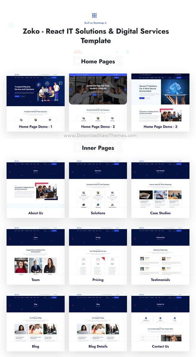 IT Solutions Digital Services Template