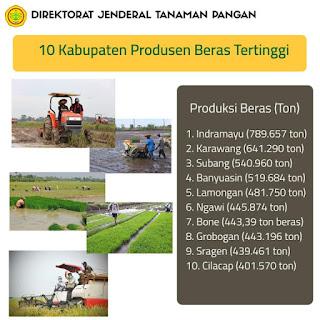 Indramayu Raih Penghargaan Kabupaten Produksi Beras Tertinggi di Indonesia