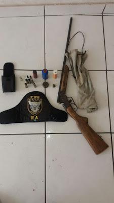 CAXIAS: Esquadrão Águia da Polícia Militar apreende arma de fogo no bairro fazendinha
