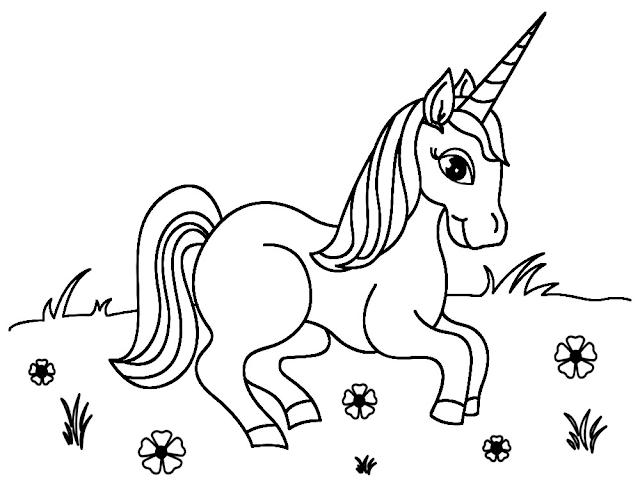 Gambar Mewarnai Unicorn - 6