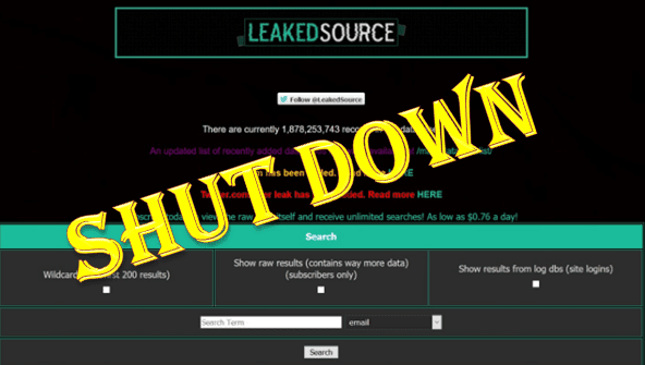 Dump Database Website Leaked Source Gets Shut Down
