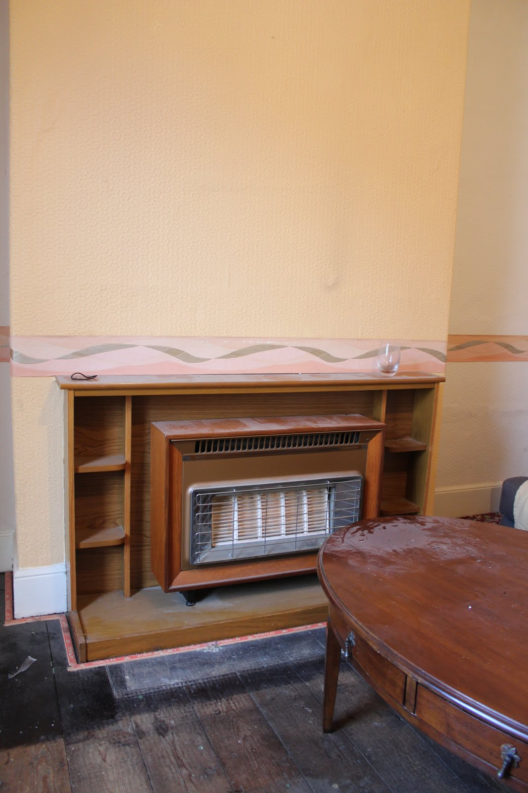 Retro Fireplace in Living Room