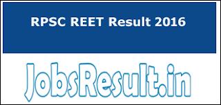 RPSC REET Result 2016