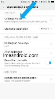 Cara backup data tanpa aplikasi