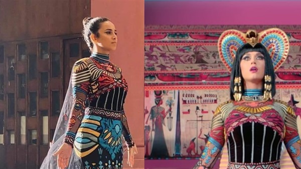 The parade costumes for transporting mummies to the Museum of Civilization was inspired by Katie Perry