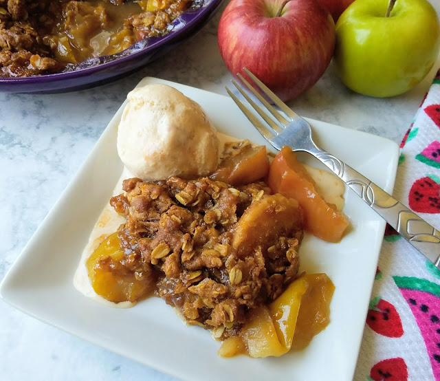 No Peel Apple Crisp