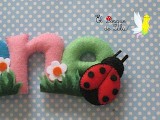 nombre-fieltro-decoración-infantil-Irene-elbosquedelulu-hechoamanoparati-regalo-personalizado-nacimiento-name-banner
