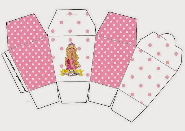 Barbie Princess School Free Printable Chinese Take Away Box.