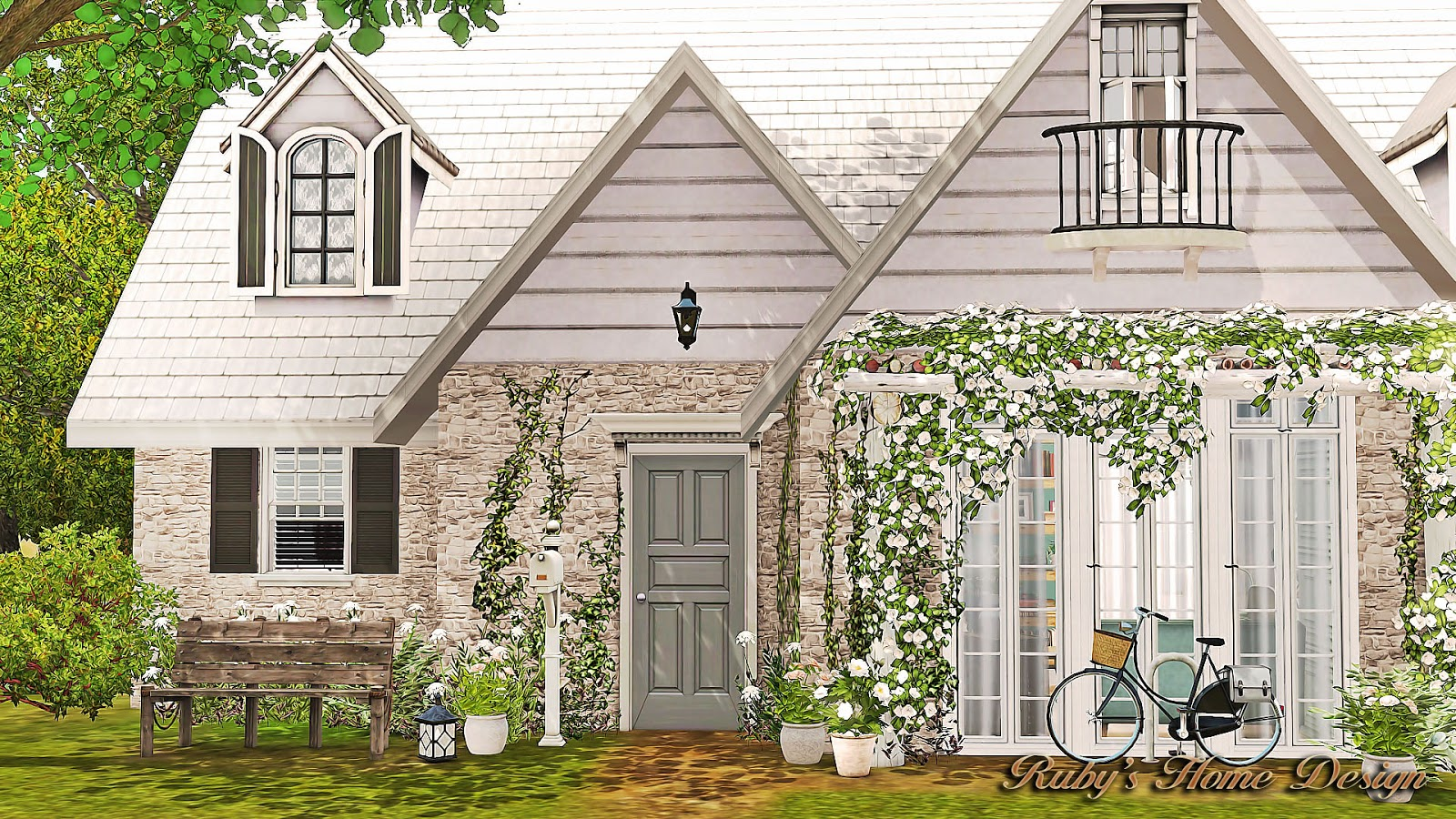 Sims3 Minty House 香草薄荷- Ruby's Home Design on
