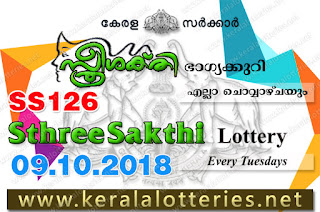 "KeralaLotteries.net, ""kerala lottery result 9.10.2018 sthree sakthi ss 126"" 10th october 2018 result, kerala lottery, kl result,  yesterday lottery results, lotteries results, keralalotteries, kerala lottery, keralalotteryresult, kerala lottery result, kerala lottery result live, kerala lottery today, kerala lottery result today, kerala lottery results today, today kerala lottery result, 09 10 2018, 09.10.2018, kerala lottery result 9-10-2018, sthree sakthi lottery results, kerala lottery result today sthree sakthi, sthree sakthi lottery result, kerala lottery result sthree sakthi today, kerala lottery sthree sakthi today result, sthree sakthi kerala lottery result, sthree sakthi lottery ss 126 results 9-10-2018, sthree sakthi lottery ss 126, live sthree sakthi lottery ss-126, sthree sakthi lottery, 9/10/2018 kerala lottery today result sthree sakthi, 09/10/2018 sthree sakthi lottery ss-126, today sthree sakthi lottery result, sthree sakthi lottery today result, sthree sakthi lottery results today, today kerala lottery result sthree sakthi, kerala lottery results today sthree sakthi, sthree sakthi lottery today, today lottery result sthree sakthi, sthree sakthi lottery result today, kerala lottery result live, kerala lottery bumper result, kerala lottery result yesterday, kerala lottery result today, kerala online lottery results, kerala lottery draw, kerala lottery results, kerala state lottery today, kerala lottare, kerala lottery result, lottery today, kerala lottery today draw result"