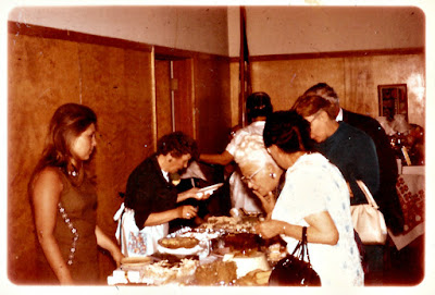 Lena Vasilev works the chow line at a Holy Trinity Sisterhood function at the Richmond District YMCA in the 1960's.