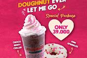Krispy Kreme Promo Special Package 1 Chocoberry Chiller & 1 Pink Sprinkles doughnut cuma 39.000!
