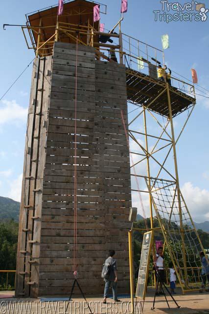 wall climb rappel zipline