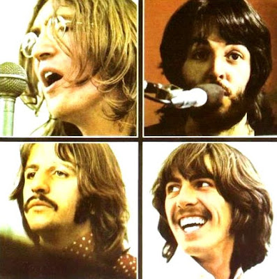 Foto a las caras de The Beatles