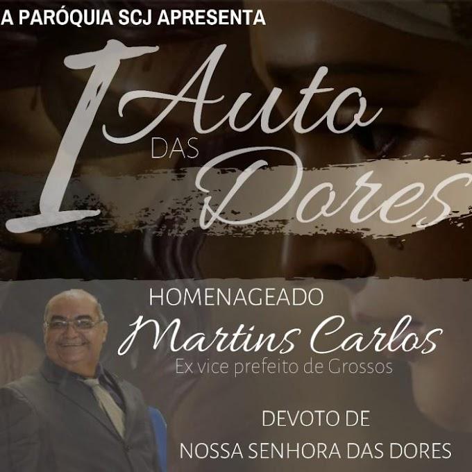 I Auto das Dores homenageará o saudoso ex vice-prefeito Martins Carlos