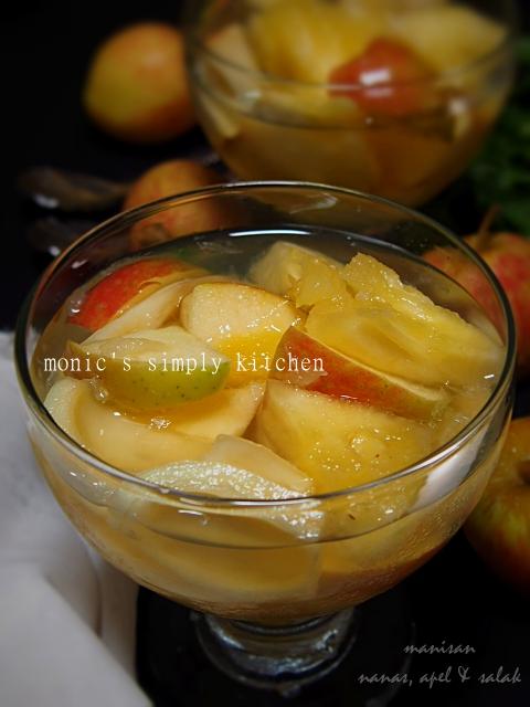 cara buat manisan apel nanas salak
