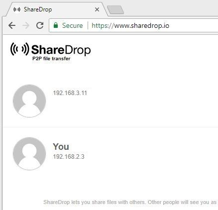 SHAREDROP - Web File Transfer (LOCAL P2P)