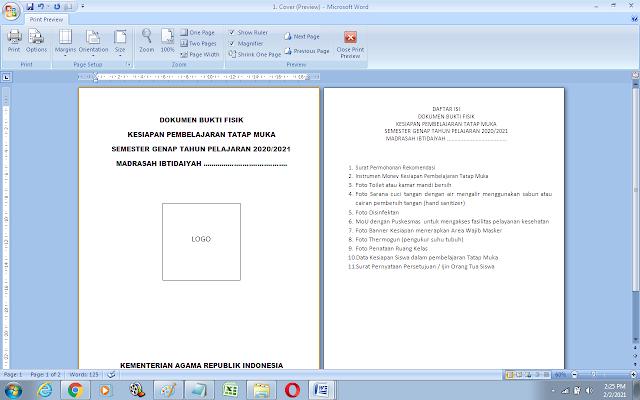 Contoh Cover Dokumen permohonan izin pembelajaran tatap muka di sekolah