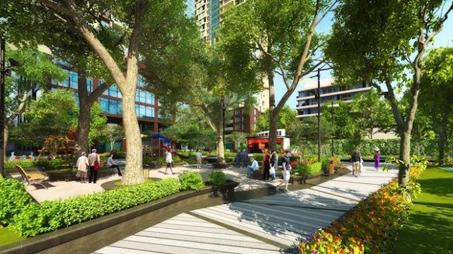 Khuôn viên xanh tại dự án