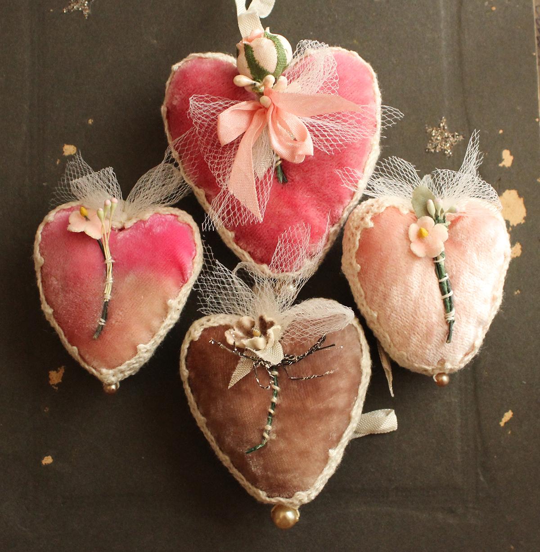 The Adventures Of Bluegirlxo Silk Velvet Heart Collection
