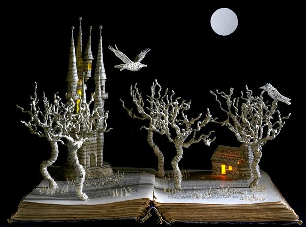 05-The-Raven-Su-Blackwell-Book-Fairy-Tale-Sculptures-www-designstack-co