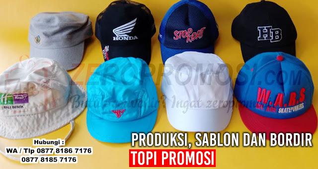 produksi Topi promosi, sablon topi, bordir topi perusahaan, TOPI KAMPANYE, Topi Souvenir, Topi Drill Tangerang