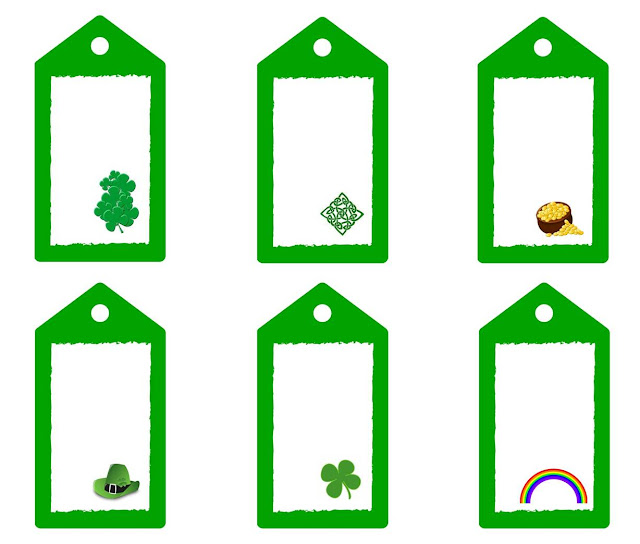 st patrick's day gift tags free printable