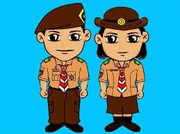 Gambar Animasi Kartun Pramuka Terbaru  JUAL TOPI PRAMUKA
