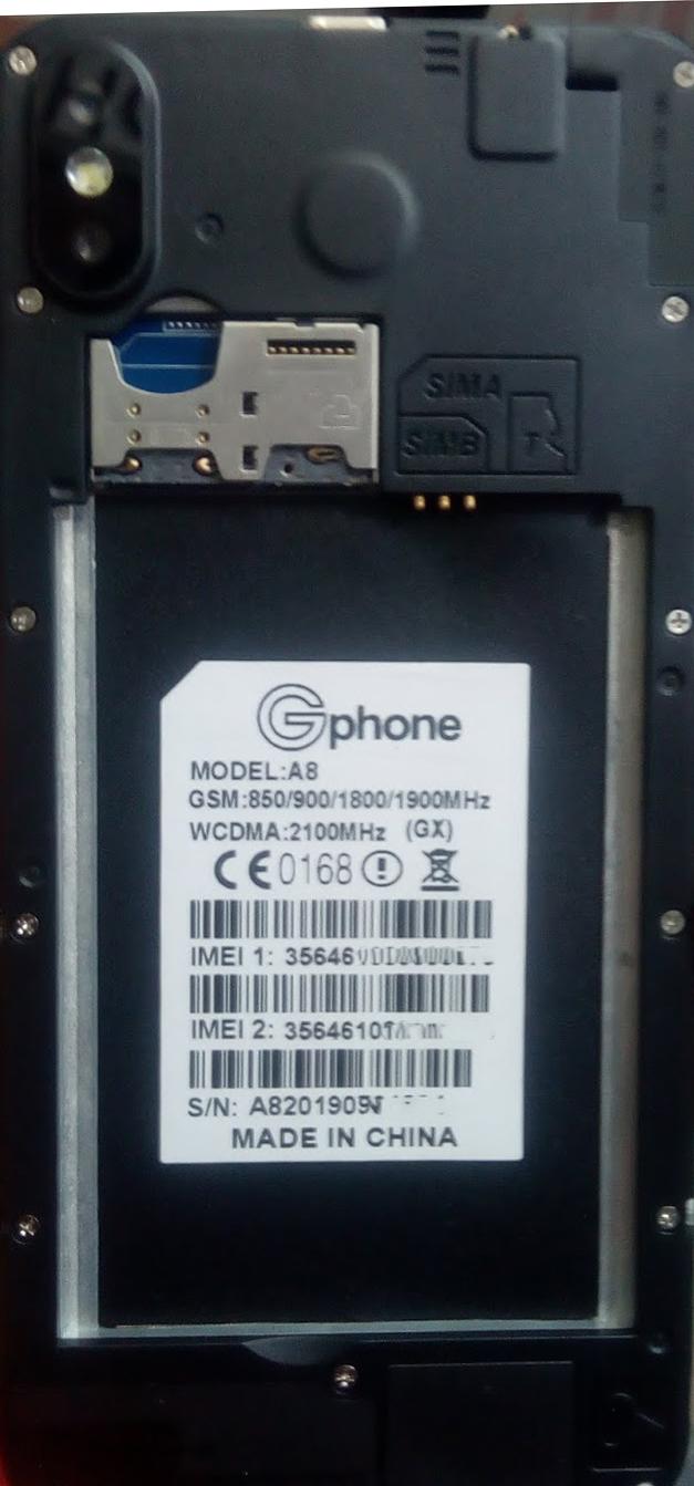 GPHONE A8 (GX) FLASH FILE MT6580 FIRMWARE