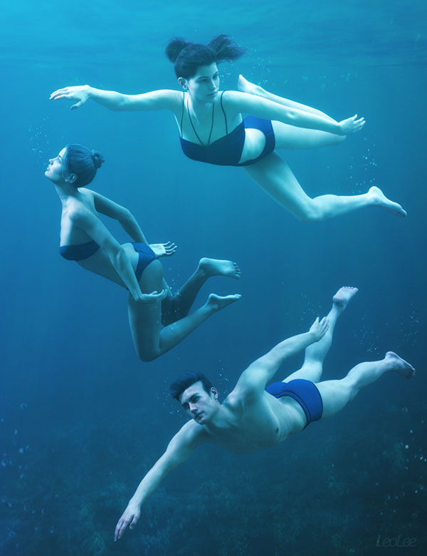 underwater poses for genesis 3 and genesis 8