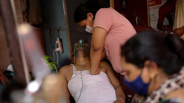 Lonjakan Kasus Corona di India Capai 400,000 Kasus Harian.lelemuku.com.jpg