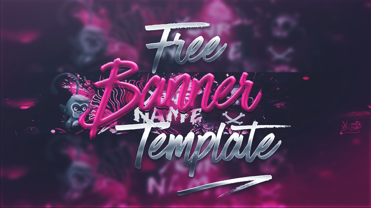 Free youtube banner template 1 photoshop madnessdesigntv free youtube banner template 1 photoshop pronofoot35fo Gallery