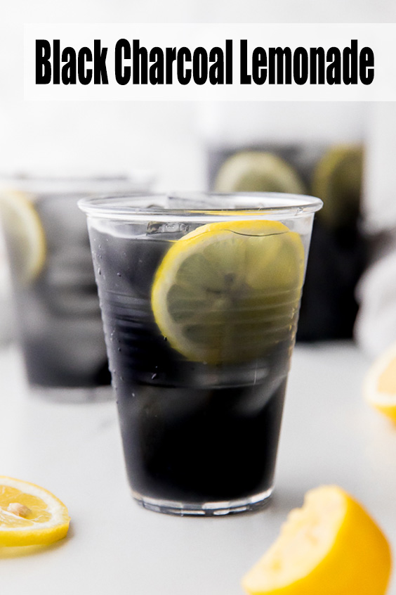 Easy to Make! Black Charcoal Lemonade