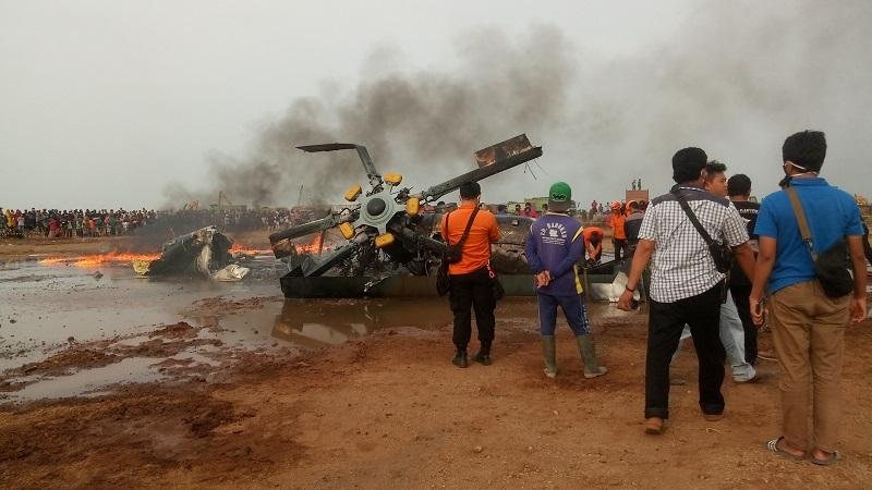 Helikopter Jatuh di Kawasan Industri Kendal, Enam Orang Sempat Menyelamatkan Diri